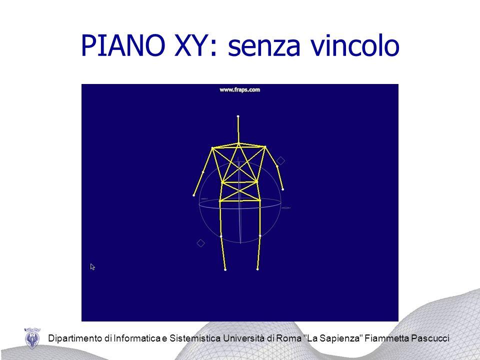 PIANO XY: senza vincolo