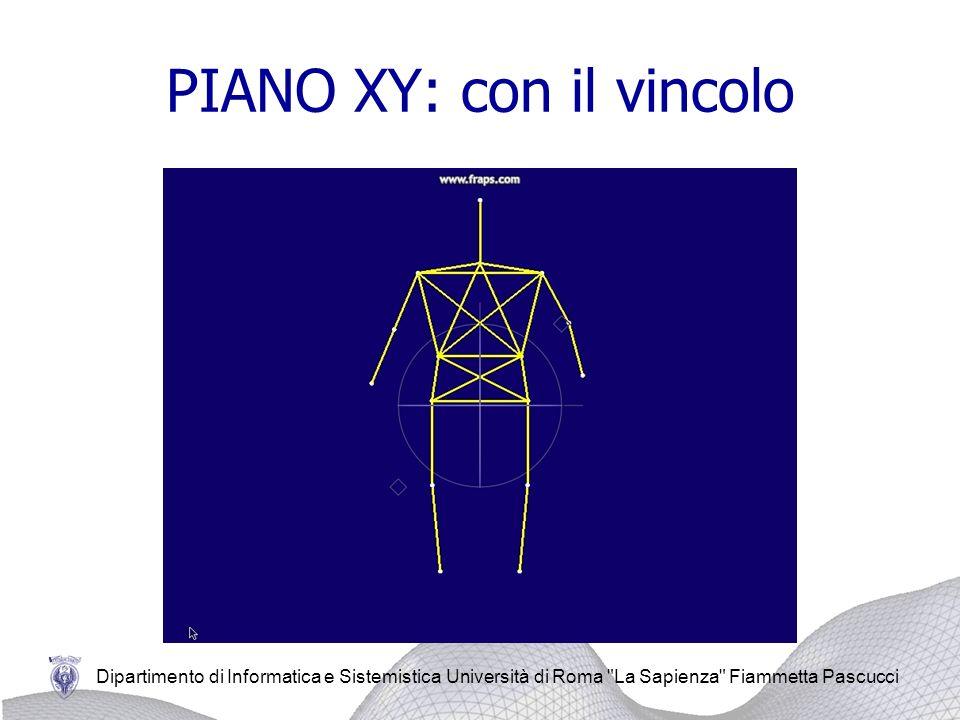 PIANO XY: con il vincolo