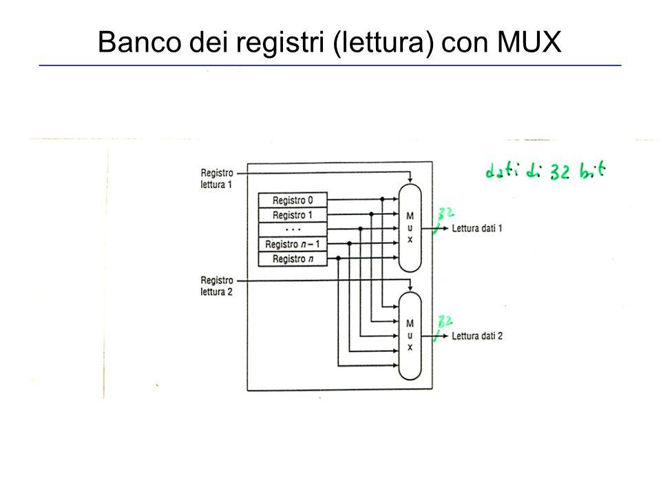 Banco dei registri (lettura) con MUX