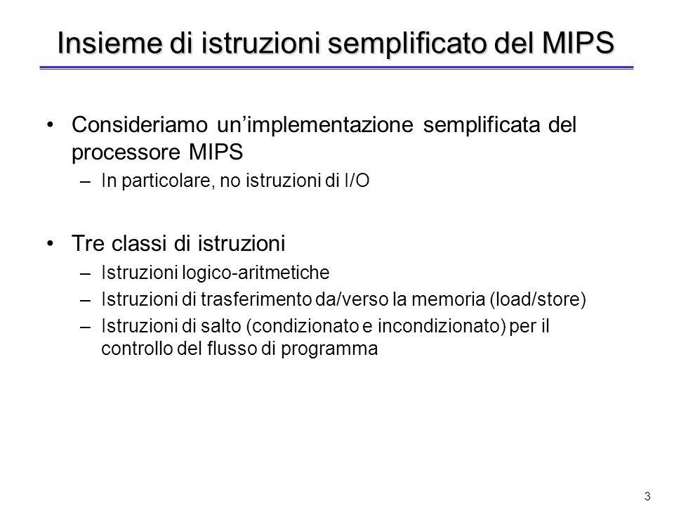 Insieme di istruzioni semplificato del MIPS