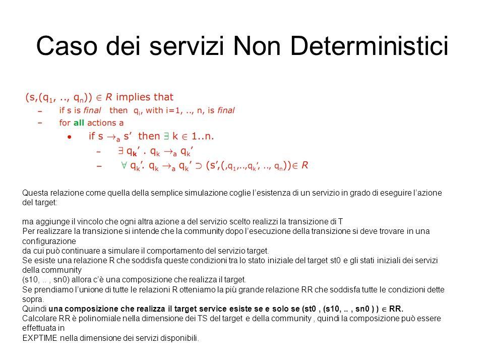 Caso dei servizi Non Deterministici