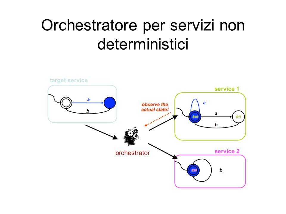 Orchestratore per servizi non deterministici