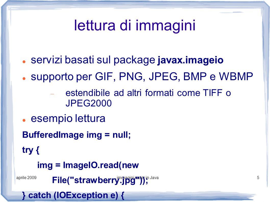 immagini raster in Java