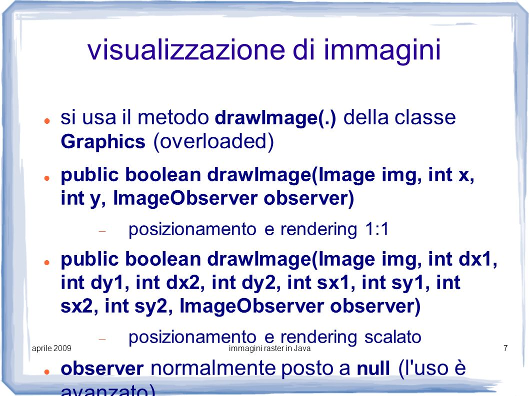 visualizzazione di immagini