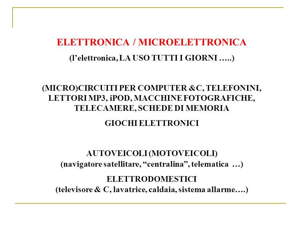 ELETTRONICA / MICROELETTRONICA