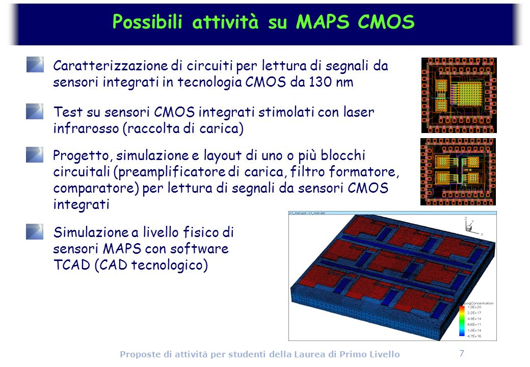 Possibili attività su MAPS CMOS