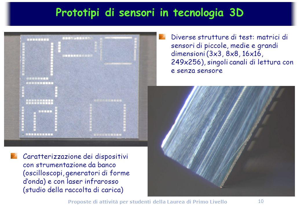 Prototipi di sensori in tecnologia 3D