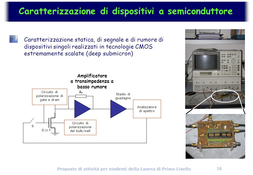 Caratterizzazione di dispositivi a semiconduttore