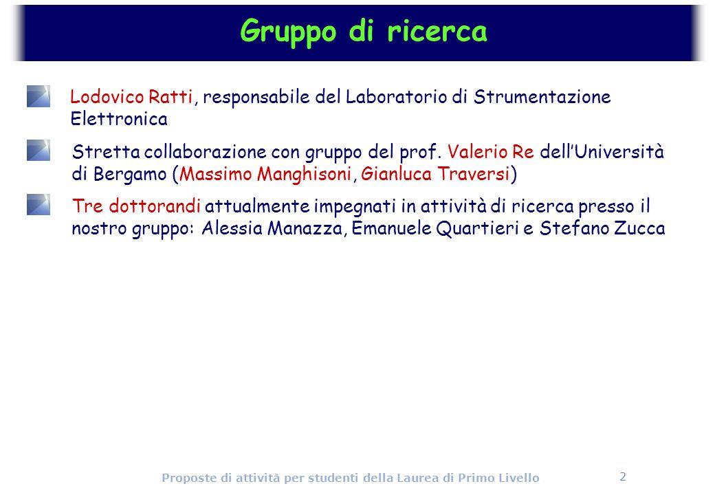 Gruppo di ricerca Lodovico Ratti, responsabile del Laboratorio di Strumentazione Elettronica.