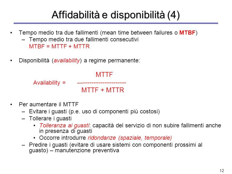 Affidabilità e disponibilità (4)