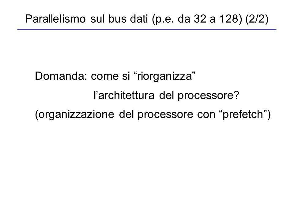 Parallelismo sul bus dati (p.e. da 32 a 128) (2/2)