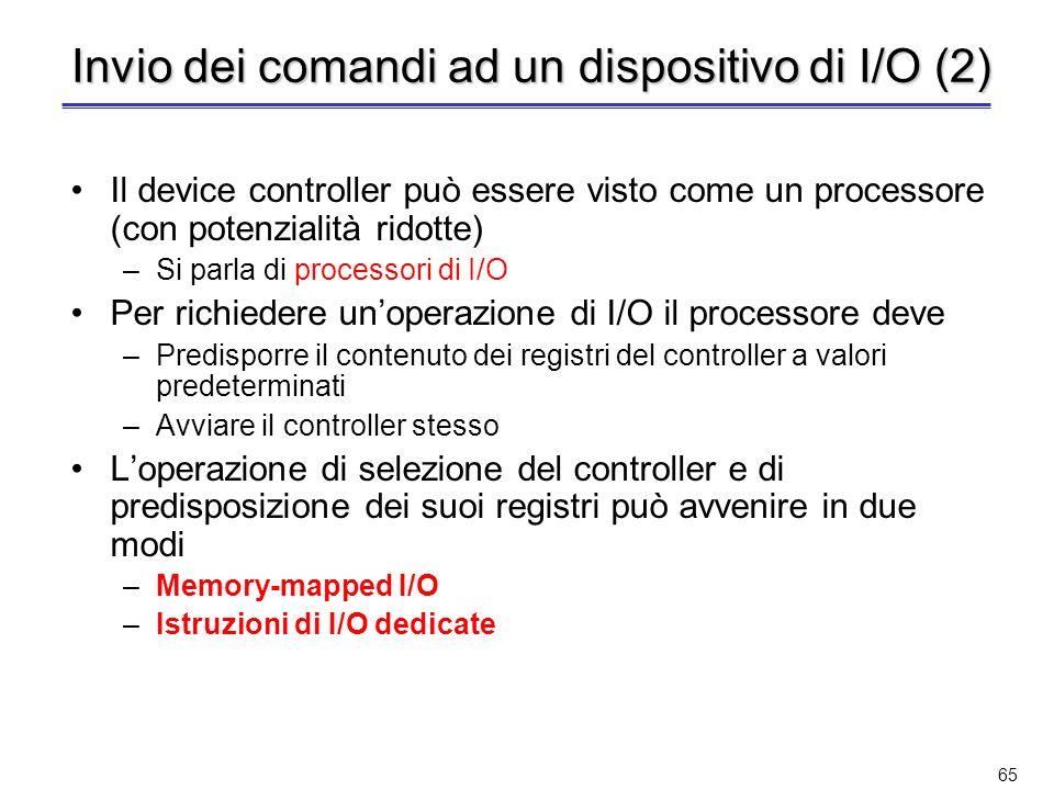 Invio dei comandi ad un dispositivo di I/O (2)