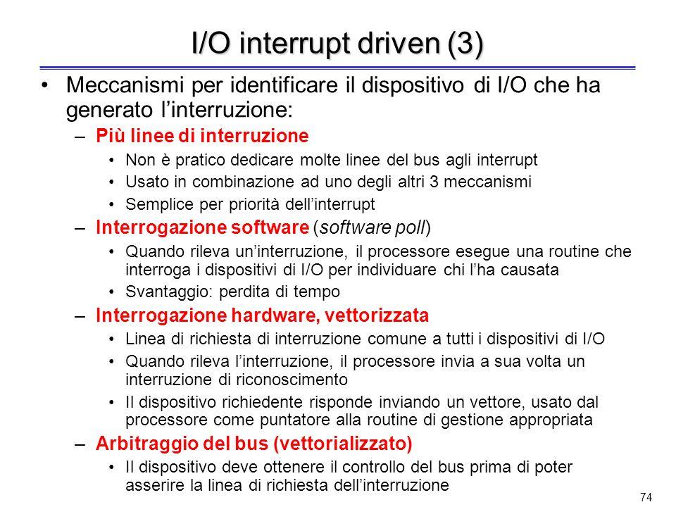 I/O interrupt driven (3)