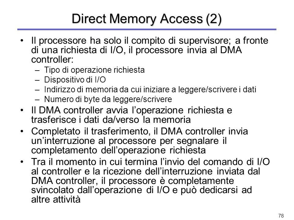 Direct Memory Access (2)