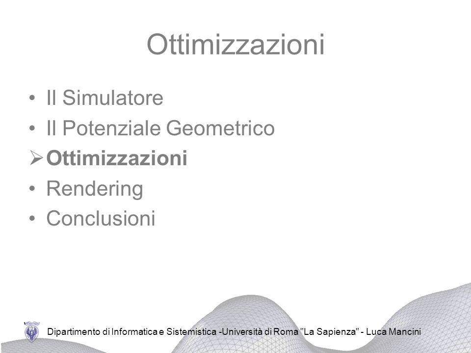 Ottimizzazioni Il Simulatore Il Potenziale Geometrico Ottimizzazioni