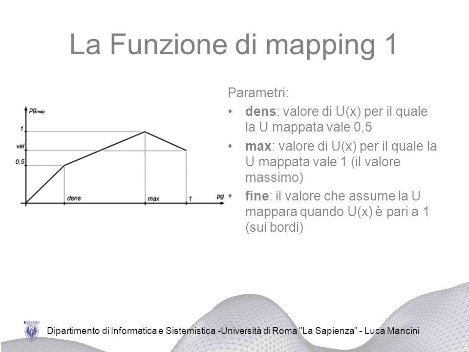 La Funzione di mapping 1 Parametri: