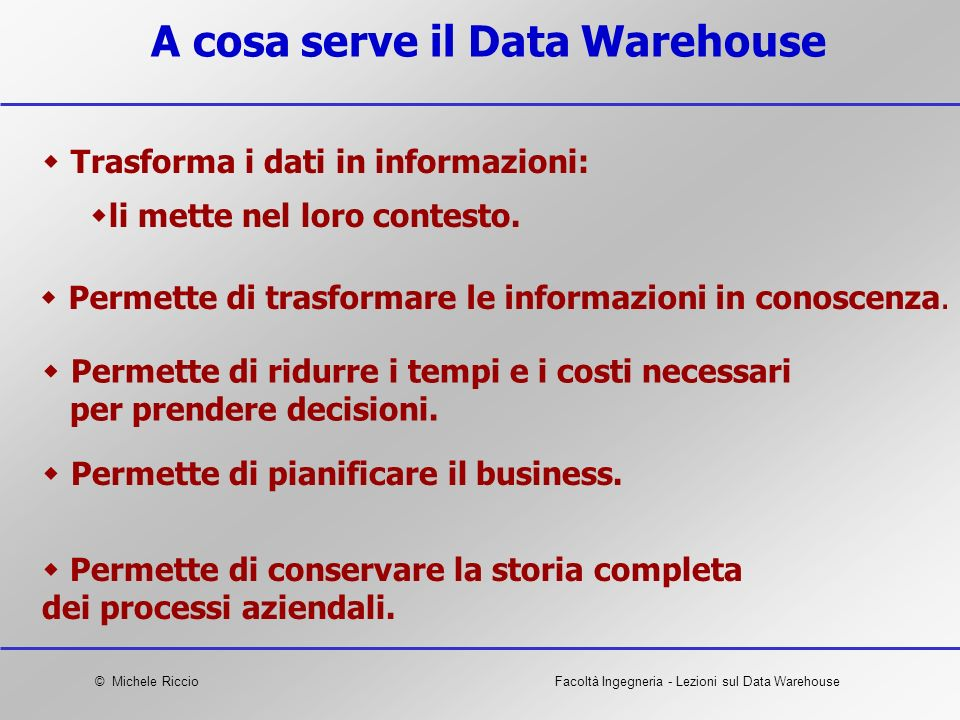 A cosa serve il Data Warehouse