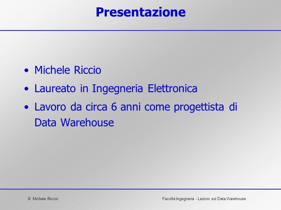 Presentazione Michele Riccio Laureato in Ingegneria Elettronica