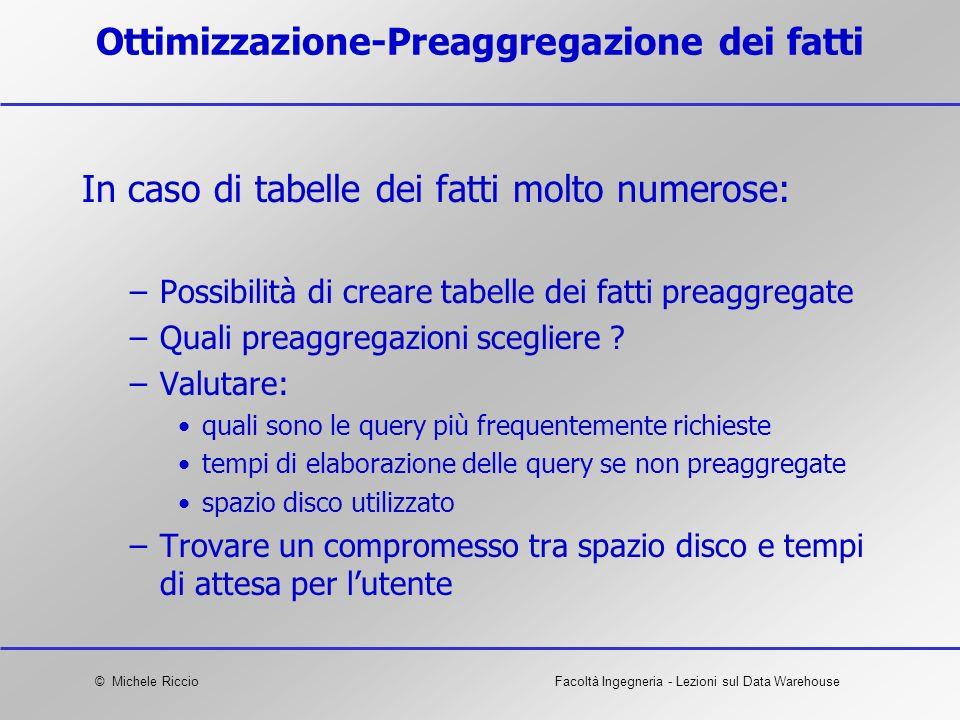 Ottimizzazione-Preaggregazione dei fatti