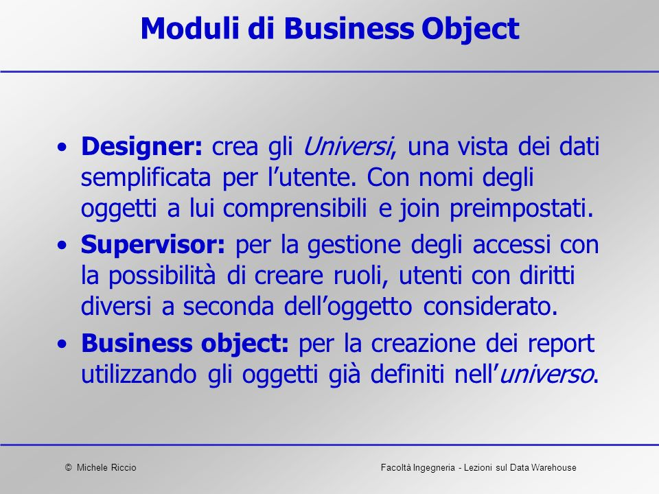 Moduli di Business Object