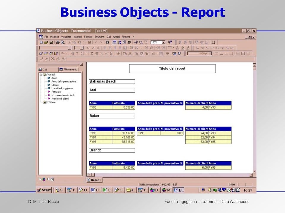 Business Objects - Report
