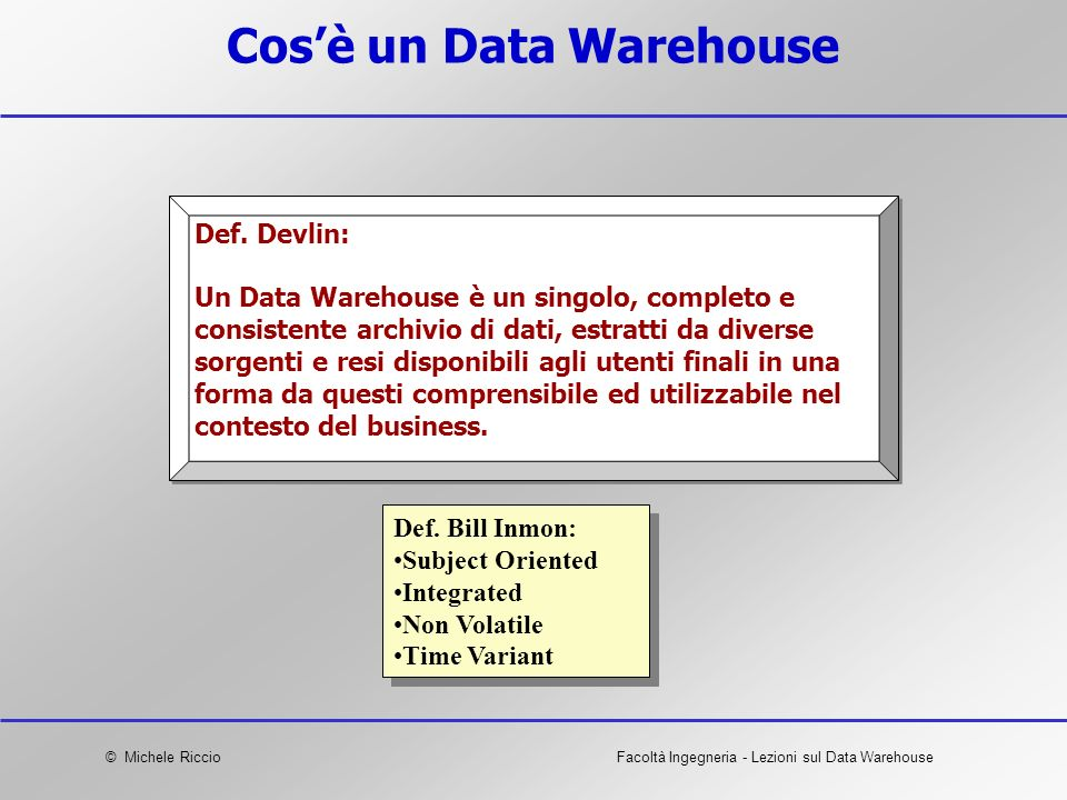 Cos'è un Data Warehouse