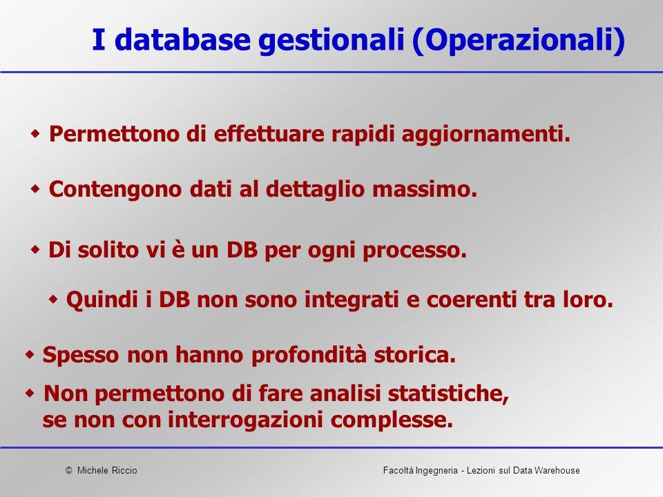 I database gestionali (Operazionali)