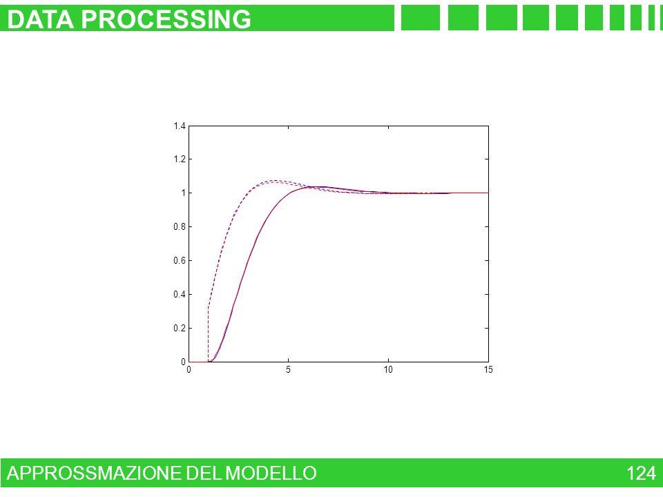 DATA PROCESSING APPROSSMAZIONE DEL MODELLO 124 1.4 1.2 1 0.8 0.6 0.4