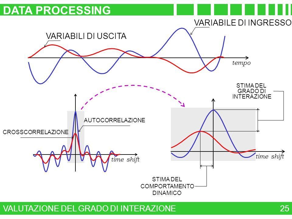 DATA PROCESSING VARIABILE DI INGRESSO VARIABILI DI USCITA