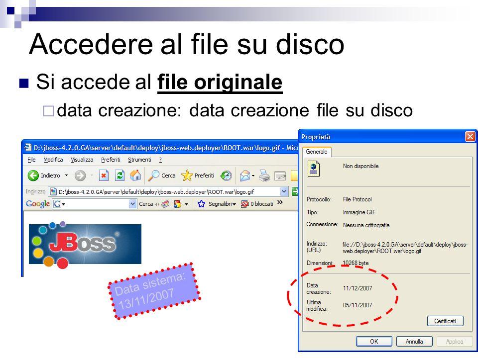 Accedere al file su disco