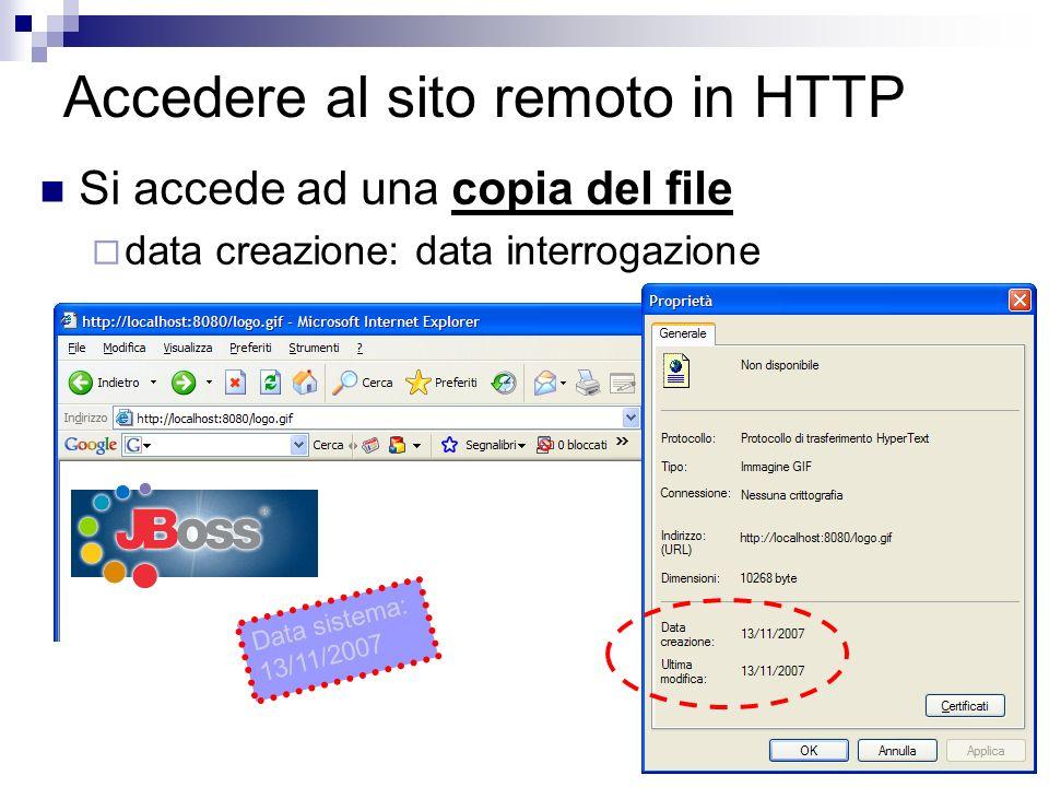 Accedere al sito remoto in HTTP
