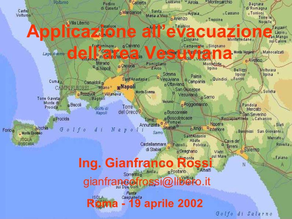 Applicazione all'evacuazione dell'area Vesuviana