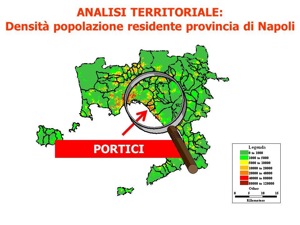 ANALISI TERRITORIALE: Densità popolazione residente provincia di Napoli