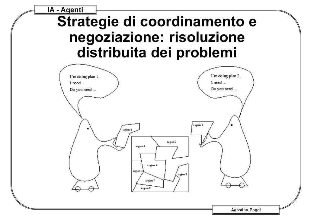 Strategie di coordinamento e negoziazione: risoluzione distribuita dei problemi