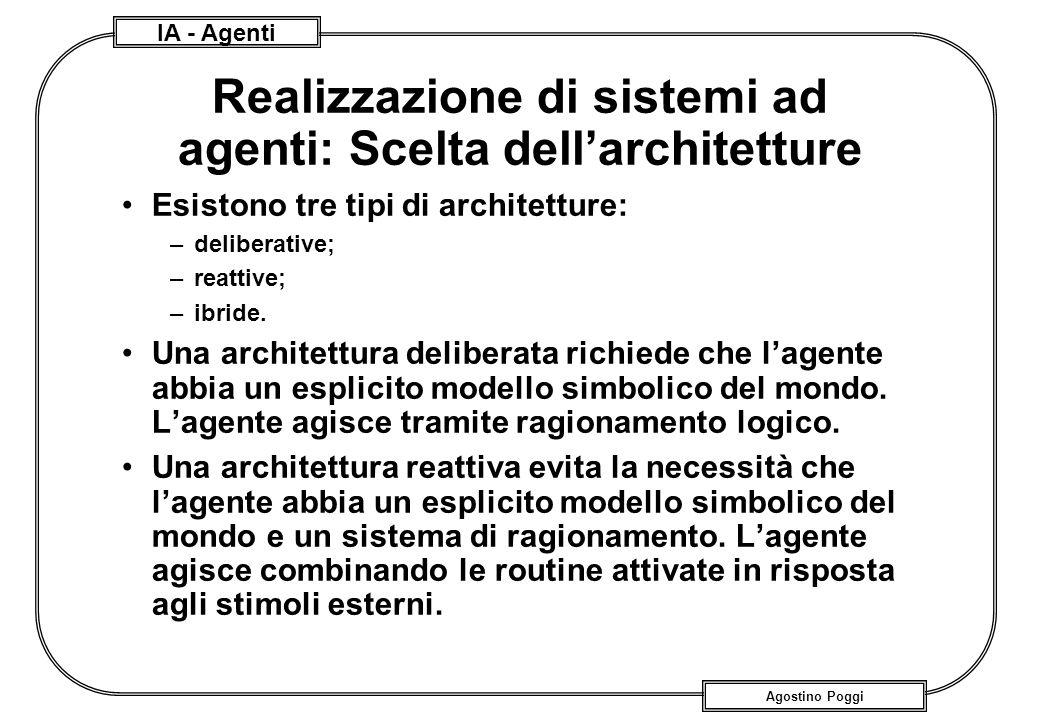 Realizzazione di sistemi ad agenti: Scelta dell'architetture