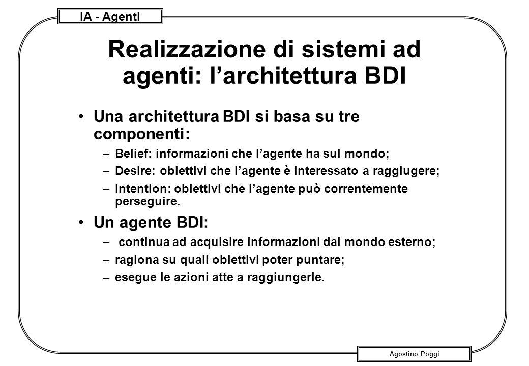 Realizzazione di sistemi ad agenti: l'architettura BDI