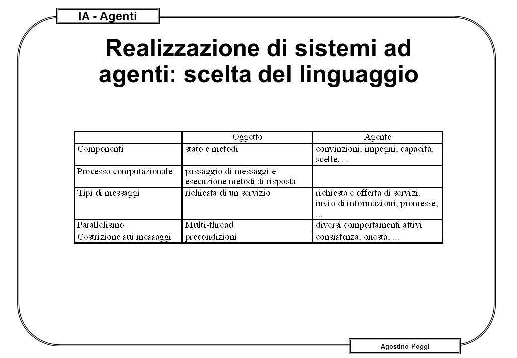 Realizzazione di sistemi ad agenti: scelta del linguaggio