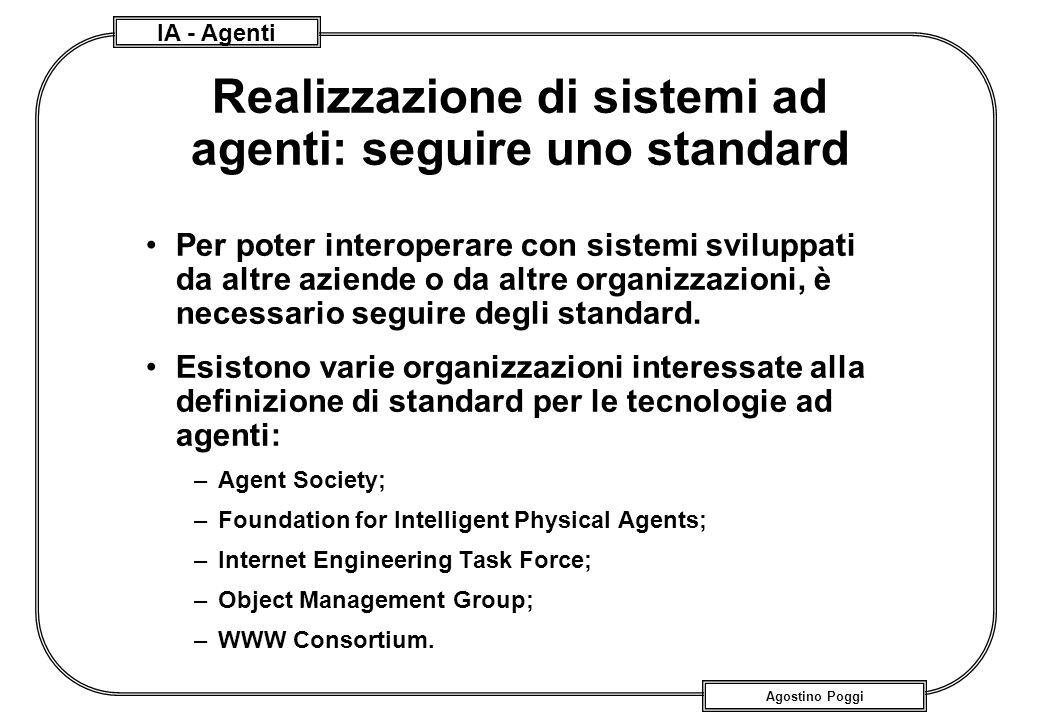 Realizzazione di sistemi ad agenti: seguire uno standard