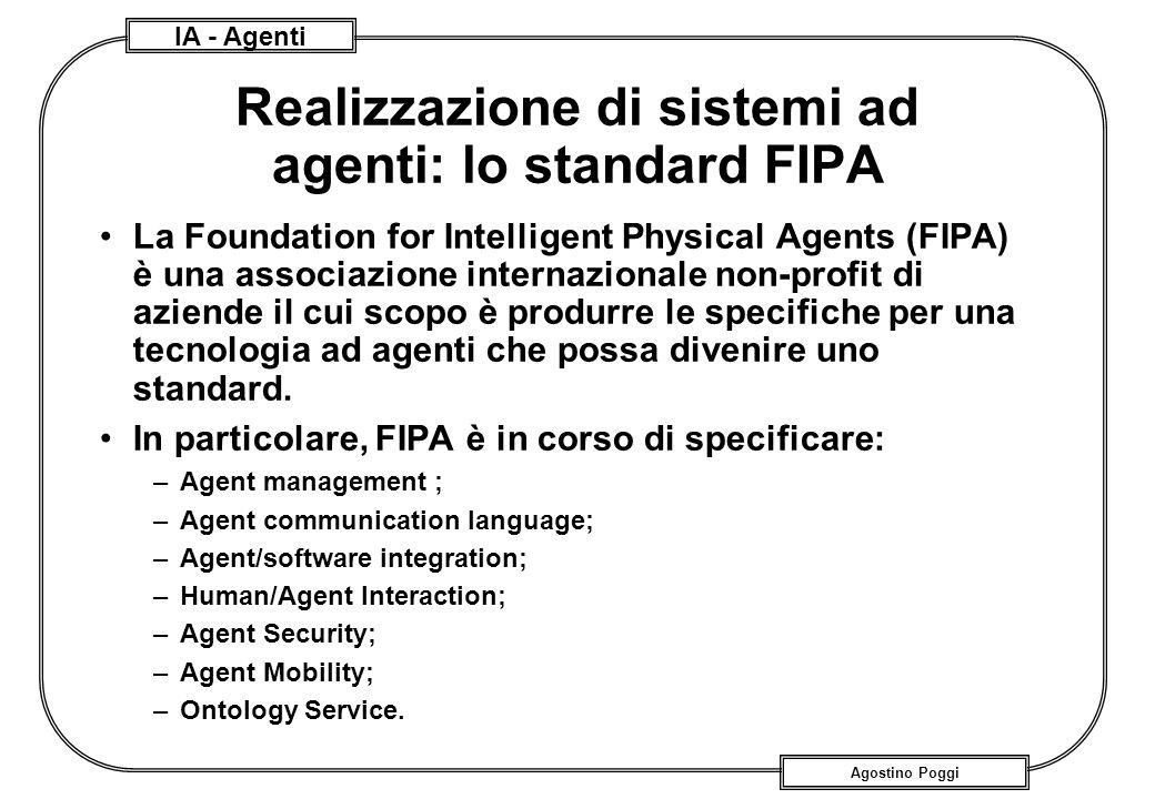 Realizzazione di sistemi ad agenti: lo standard FIPA