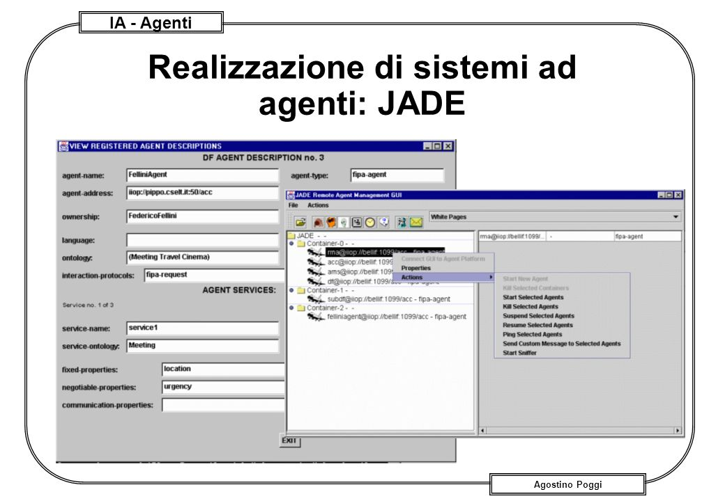 Realizzazione di sistemi ad agenti: JADE