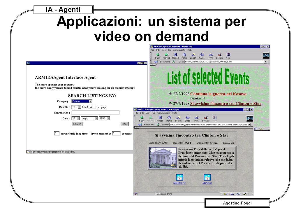 Applicazioni: un sistema per video on demand