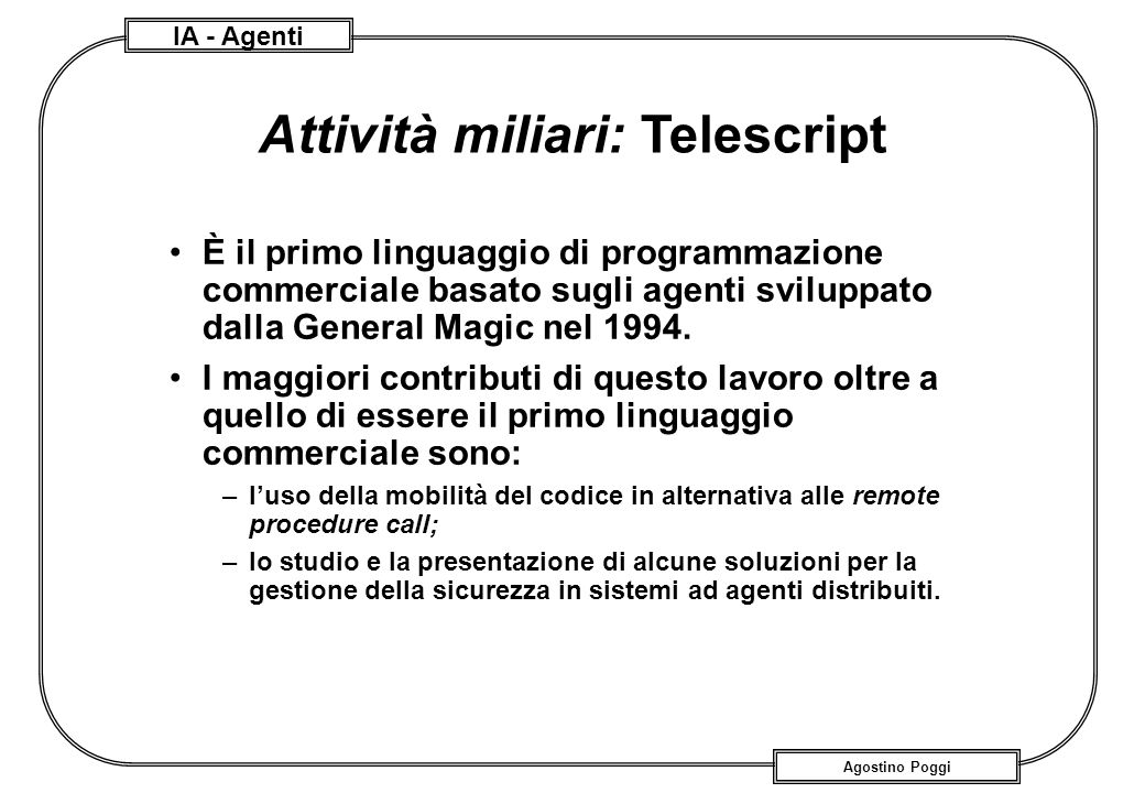 Attività miliari: Telescript