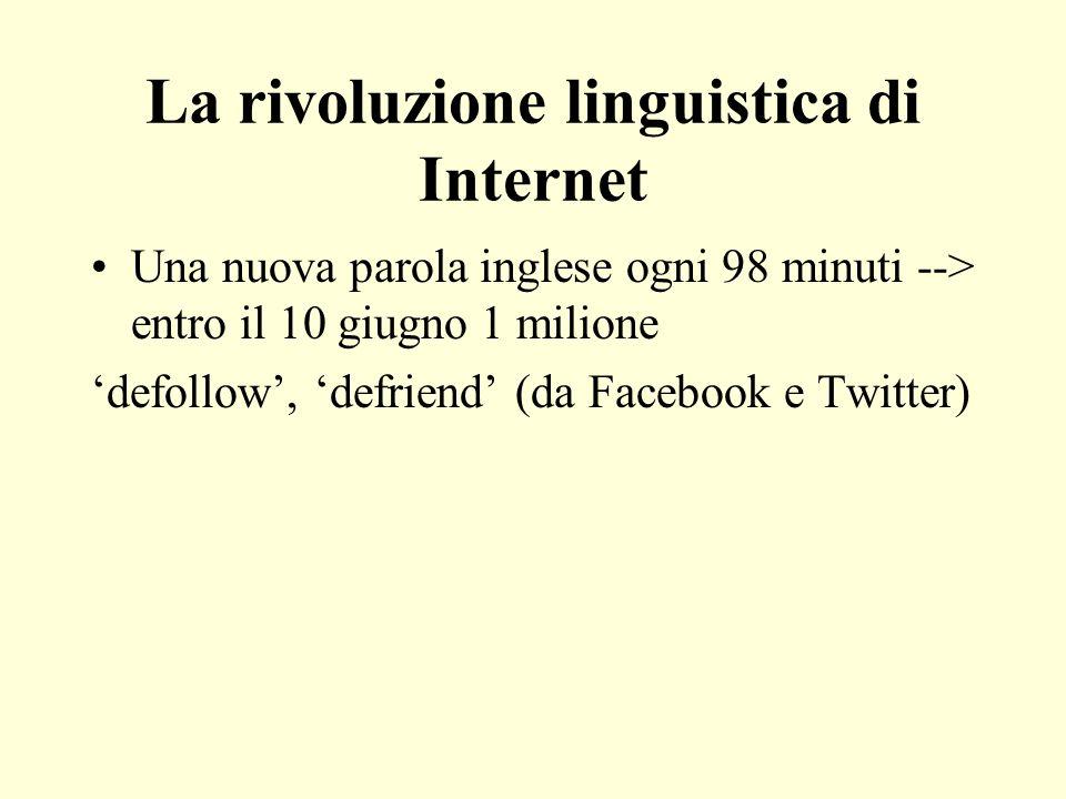 La rivoluzione linguistica di Internet