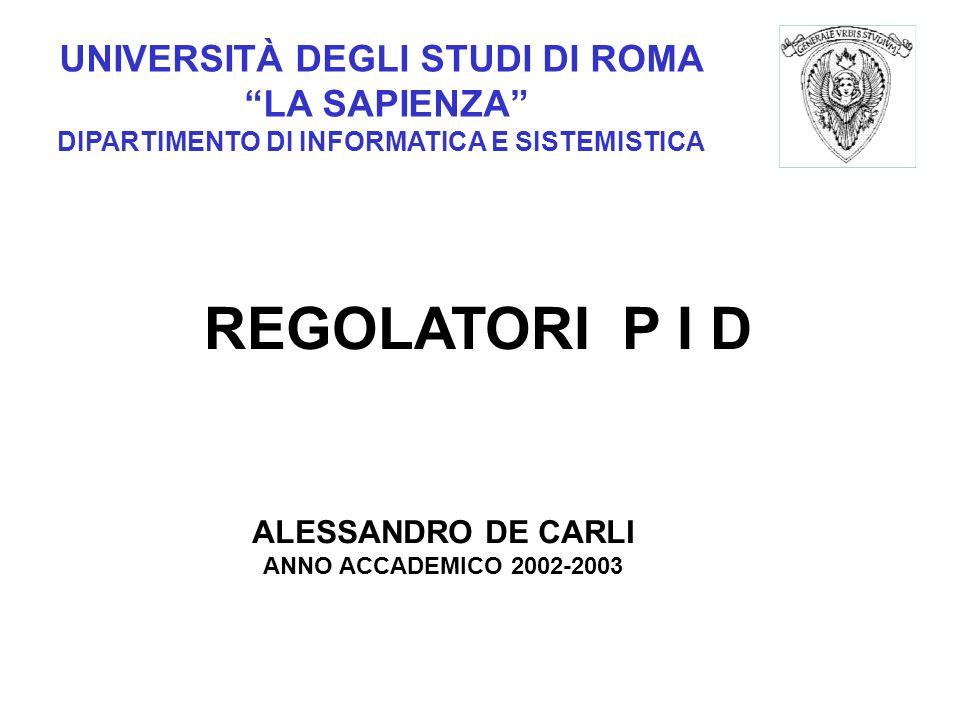 REGOLATORI P I D UNIVERSITÀ DEGLI STUDI DI ROMA LA SAPIENZA