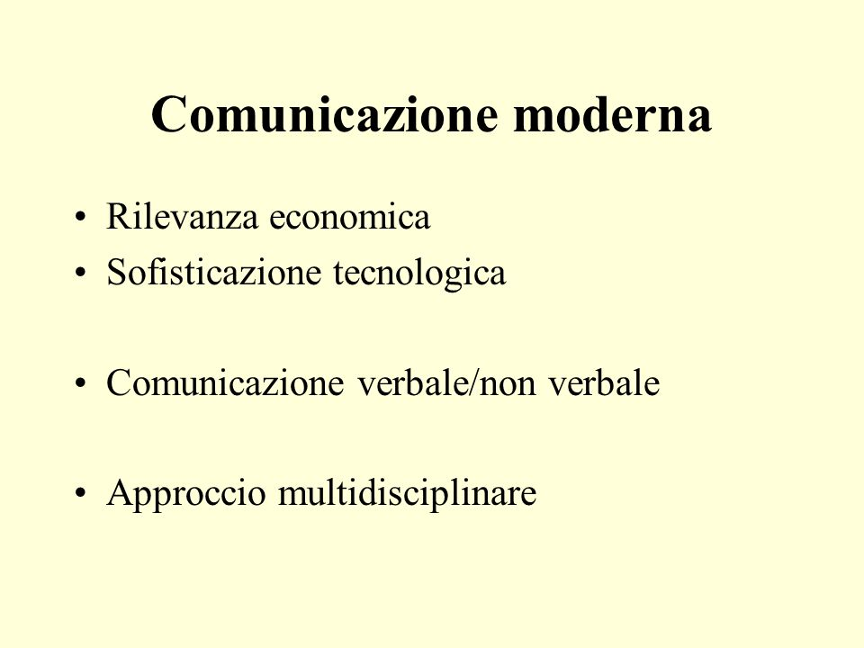 Comunicazione moderna