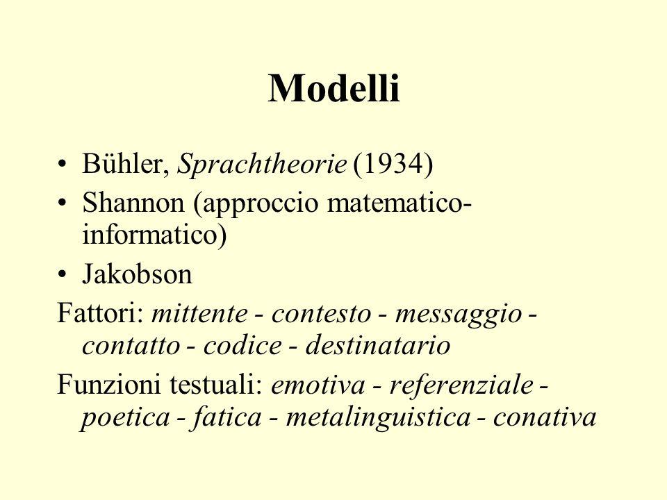 Modelli Bühler, Sprachtheorie (1934)