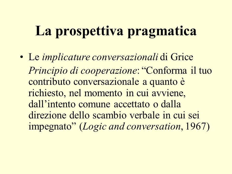 La prospettiva pragmatica