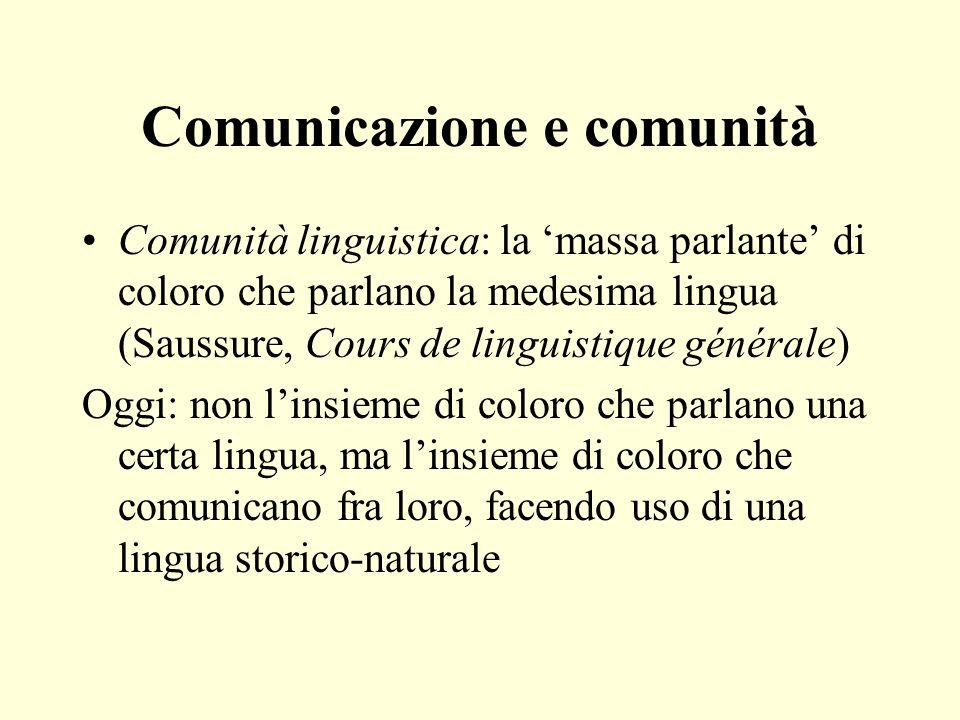 Comunicazione e comunità