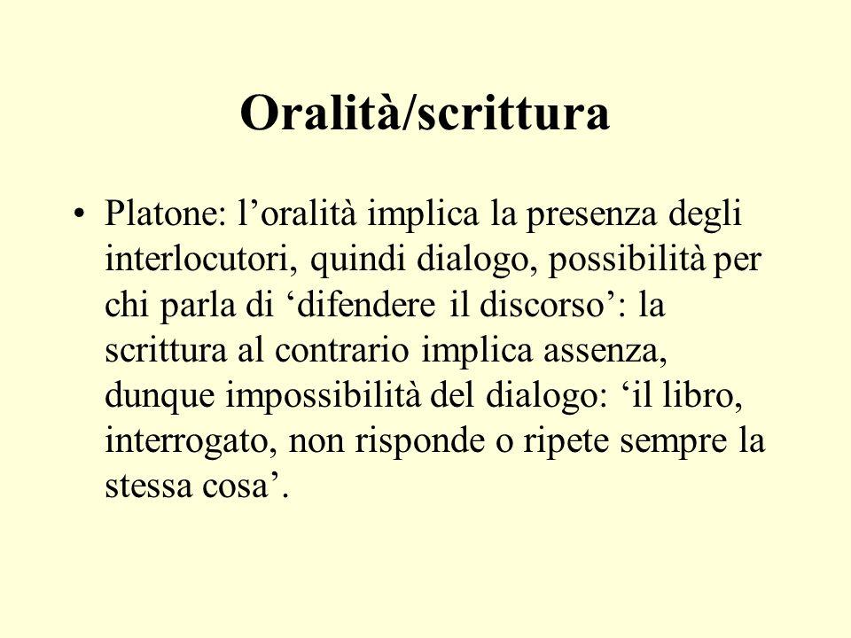 Oralità/scrittura