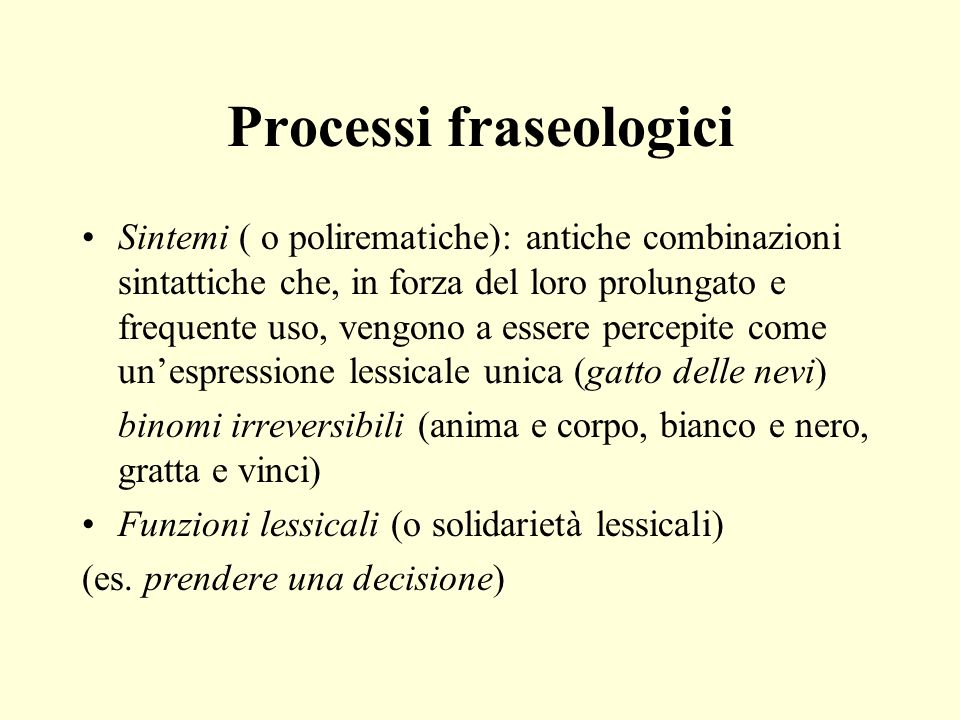 Processi fraseologici